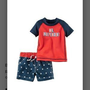 Carter's Swim - Carter's 4th July rashguard swimsuit